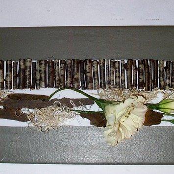 Tableau, palissade fleuri (vendu)