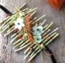 Bracelet en bois flotté  et fleurs (vendu)