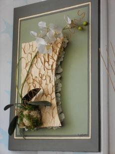 Phalaenopsis en tergal sur toile