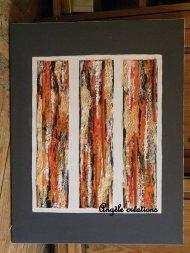Tableau collage et acrylique