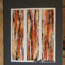 Tableau/ technique mixte collage et acrylique