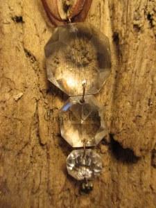 Pendentif  trio de perles de cristal