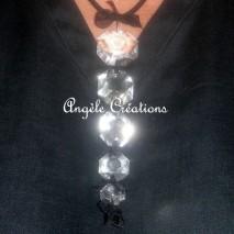 Pendentif en perles de cristal