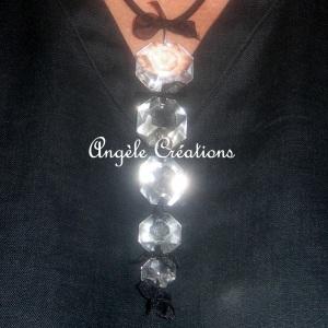 """Pendentif Perles de cristal"""""""