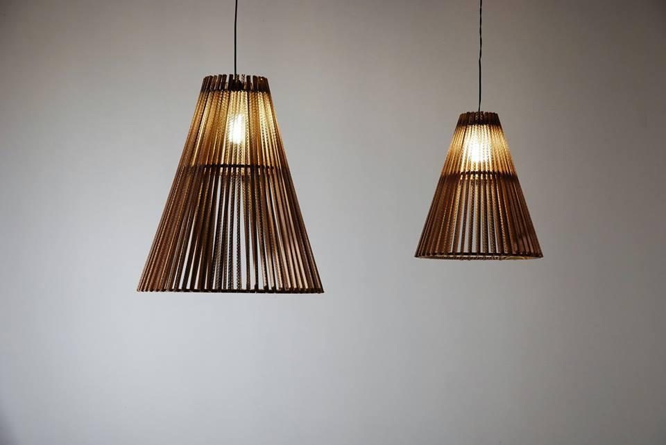 Lampes faite de carton