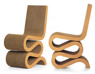 Chaise design en carton