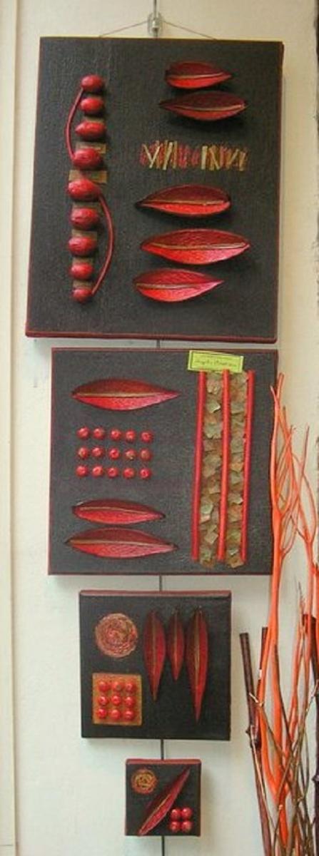 Série de 4 toiles en acrylique