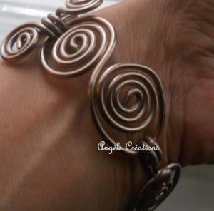 Bracelet chaine arabesque argent gris