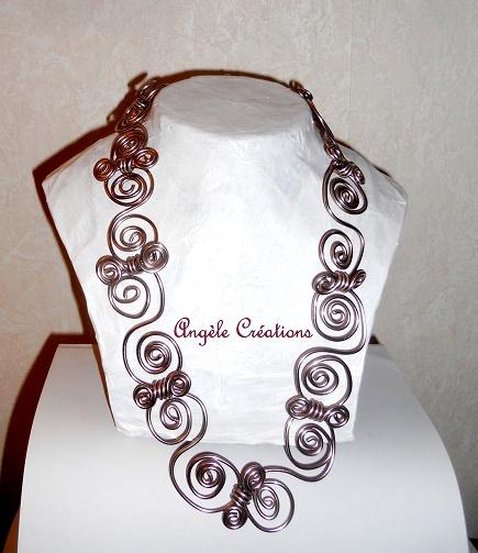collier ras du cou maillons articulée(autres couleurs possibles