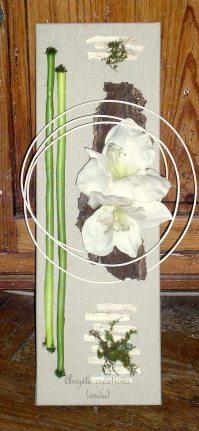 Amaryllis sur toile de lin