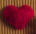 coeur en laine bouillie
