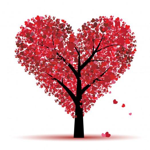 Valentine tree, love,