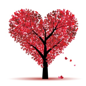 Valentine tree, love,