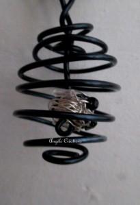 sautoir tourbillon noir argent