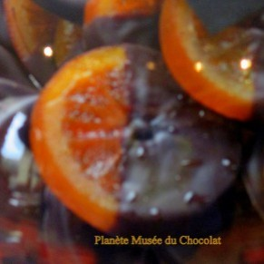 Orange/chocolat au musée du Maitre Chocolatier Serge Couzicou