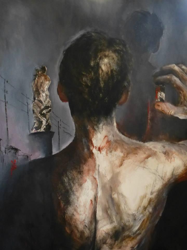Nicolas Fropo de Habart autoportrait.. de dos