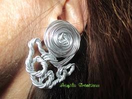 Boucles d'oreilles montées sur clip (ou dormeuse) PV 19€