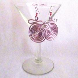 Boucles d'oreilles Calder rose pale