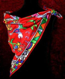 foulard-niki-de-saint-phalle-rossignol-rouge