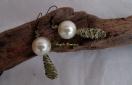 Boucles d'oreilles en  perles et fil de laiton (PV 25€)