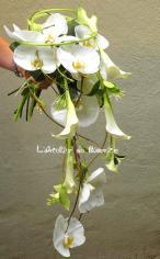 Bouquet de mariée avec orchidées (à partir de 120€)