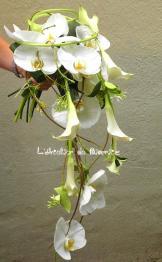 Bouquet de mariée avec orchidées