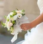Bouquet de mariée rond et pastel