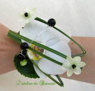 Bracelet en fleuron dorchidée phalaenopsis blanc