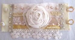 Accessoire pour la mariée Manchette/bracelet en différents tissu et perles