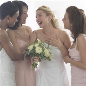 mariée et témoins