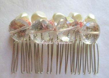 Peigne perlé