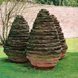 Land'art Structure en pierre en forme d'oeuf d'Andy Goldsworthy