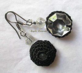 Boucle d'oreille cristal et crochet pièce unique