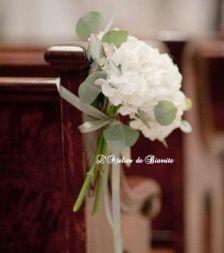 Bout de bancs en hortensia blanc