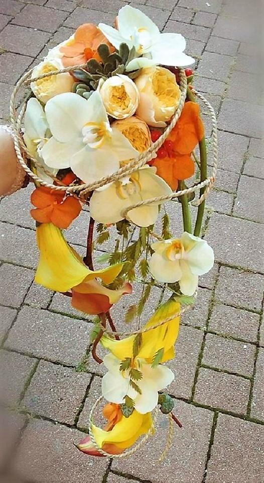 Bouquet de mariée à chute