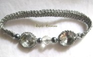 """Bracelet """"Perles de cristal"""" ardoise"""