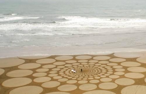 Landart sur sable
