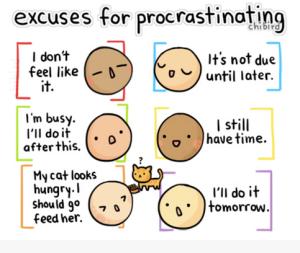 Exuses pour procrastiner