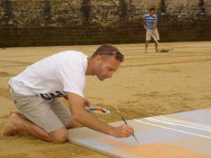 Peinture sur sable