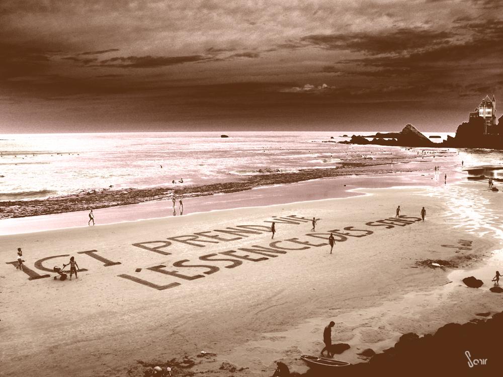 Land'art sur plage