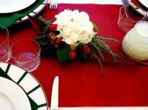 centre de table hortensia, bruyère etet mures
