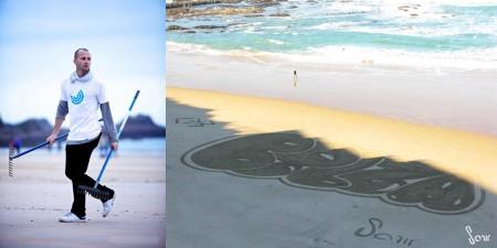Tag sur le sable
