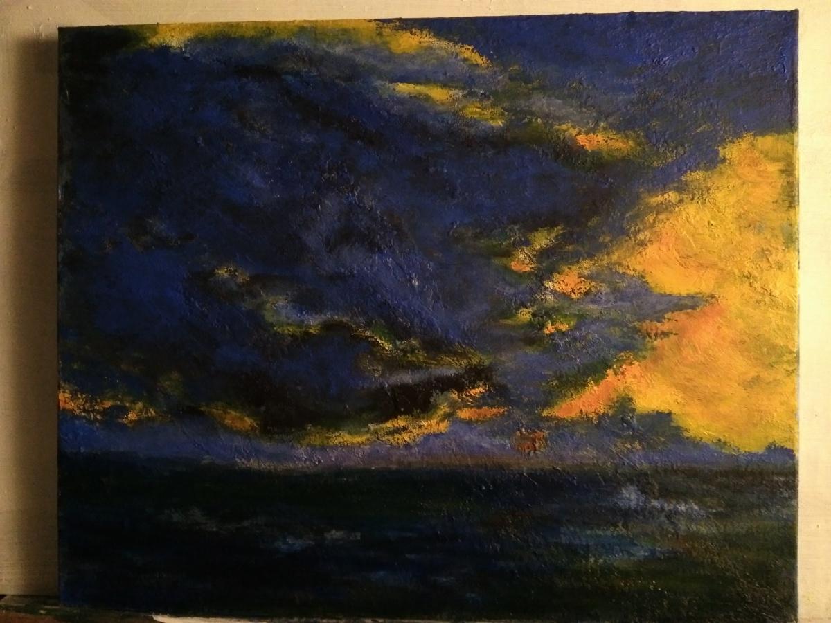 tableau acrylique 1ere version très sombre