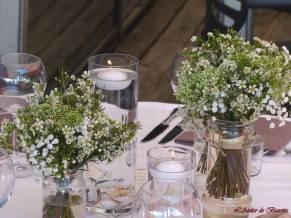 Bouqet de table en wax