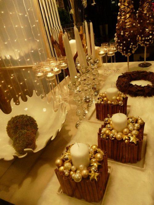 Cadeau décoration de bougies et cannelle
