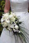 Bouquet de mariée calla roses freesia beer grass