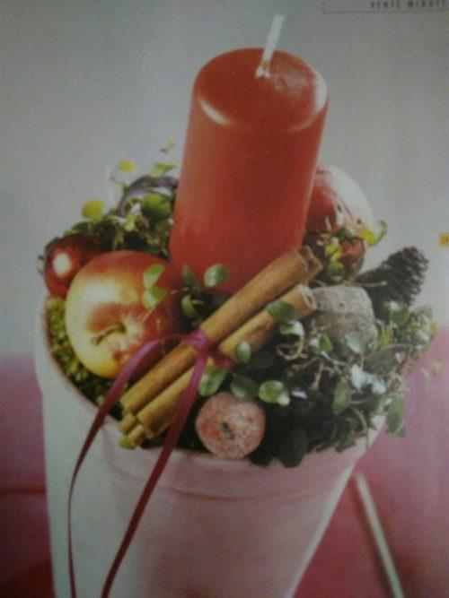 Bougeoir garnie de fruits secs