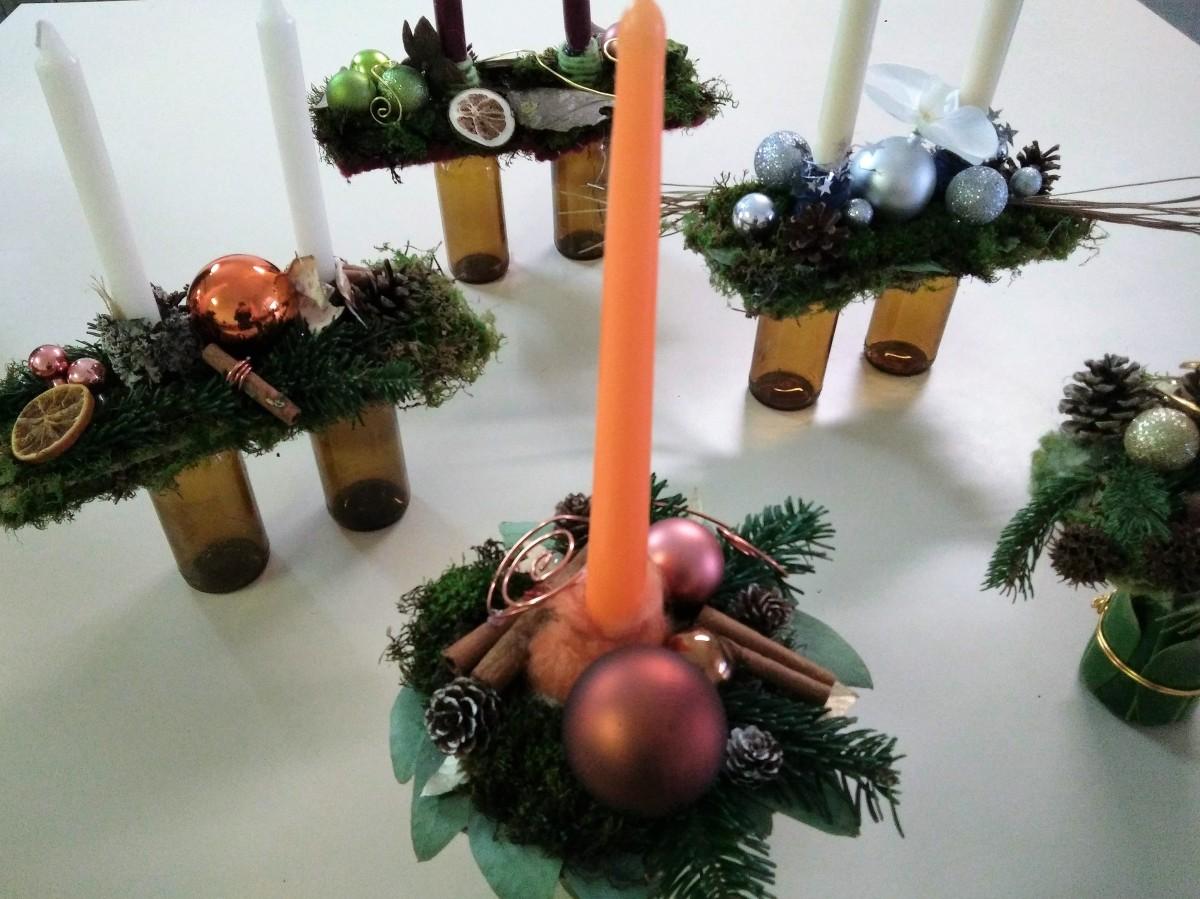 Atelier décoration de table bougeoir de Noël (1)