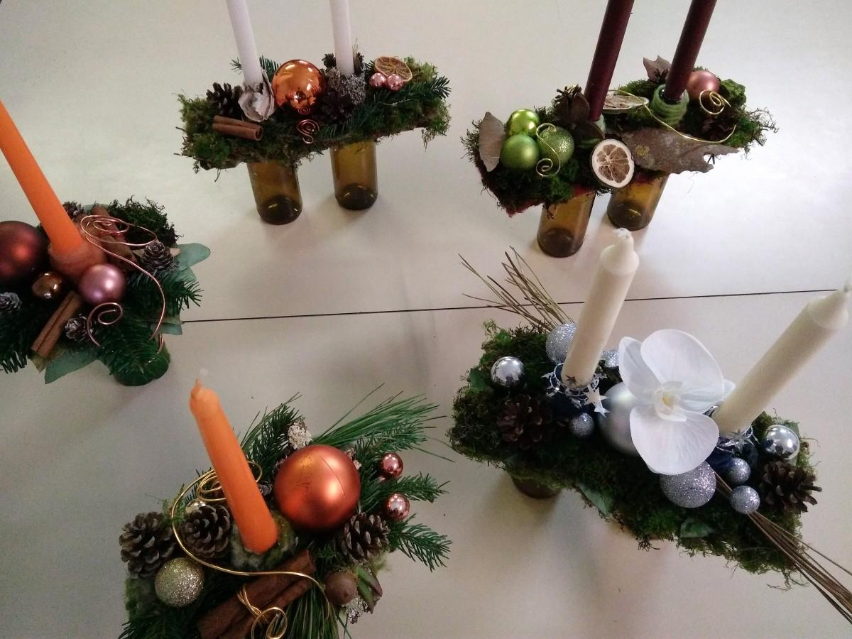 Atelier décoration les bougeoirs de Noël
