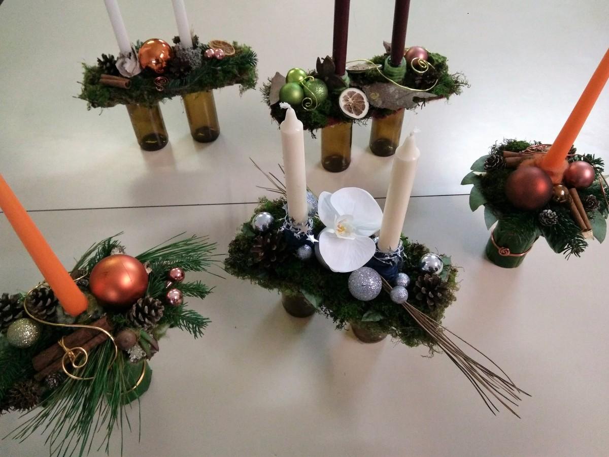 Atelier décoration bougeoirs de Noël solo ou double
